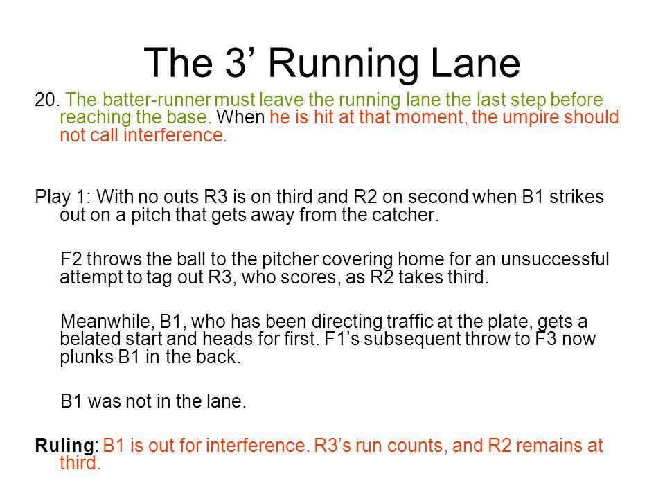 The 3' Running Lane 20.
