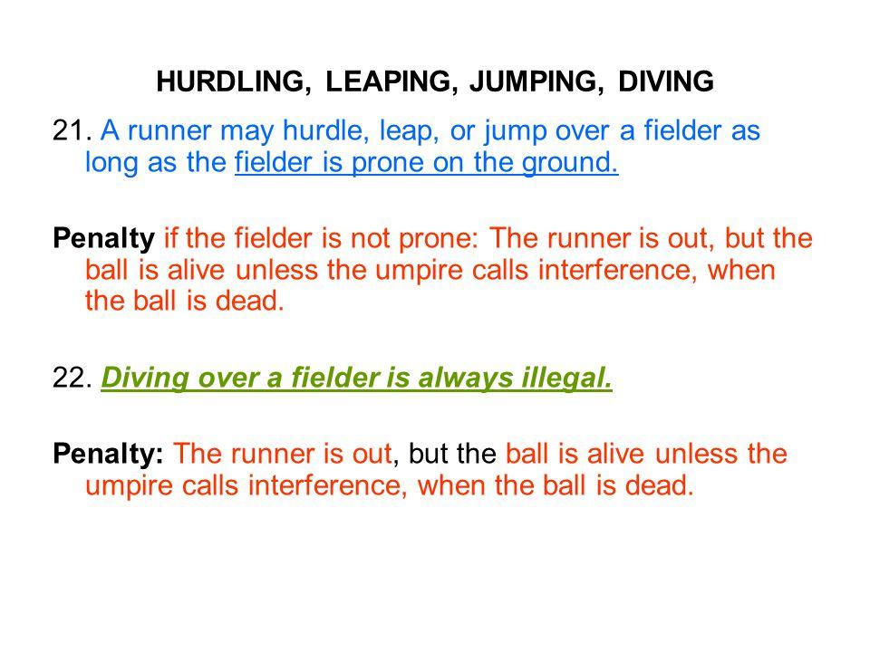HURDLING, LEAPING, JUMPING, DIVING 21.