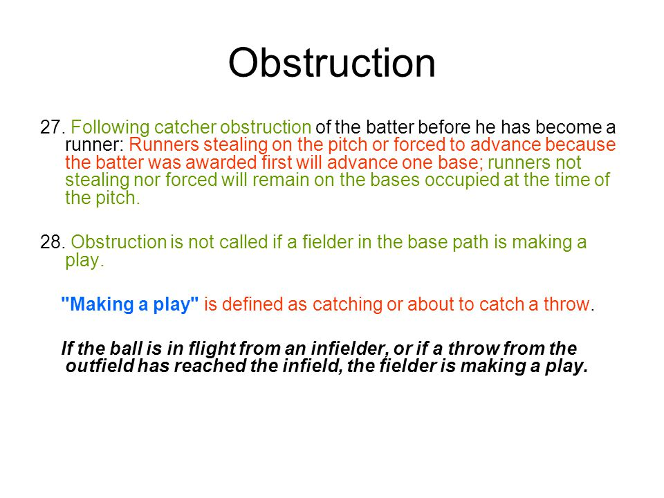 Obstruction 27.
