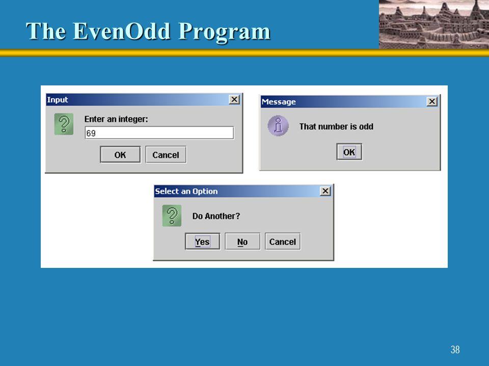 38 The EvenOdd Program