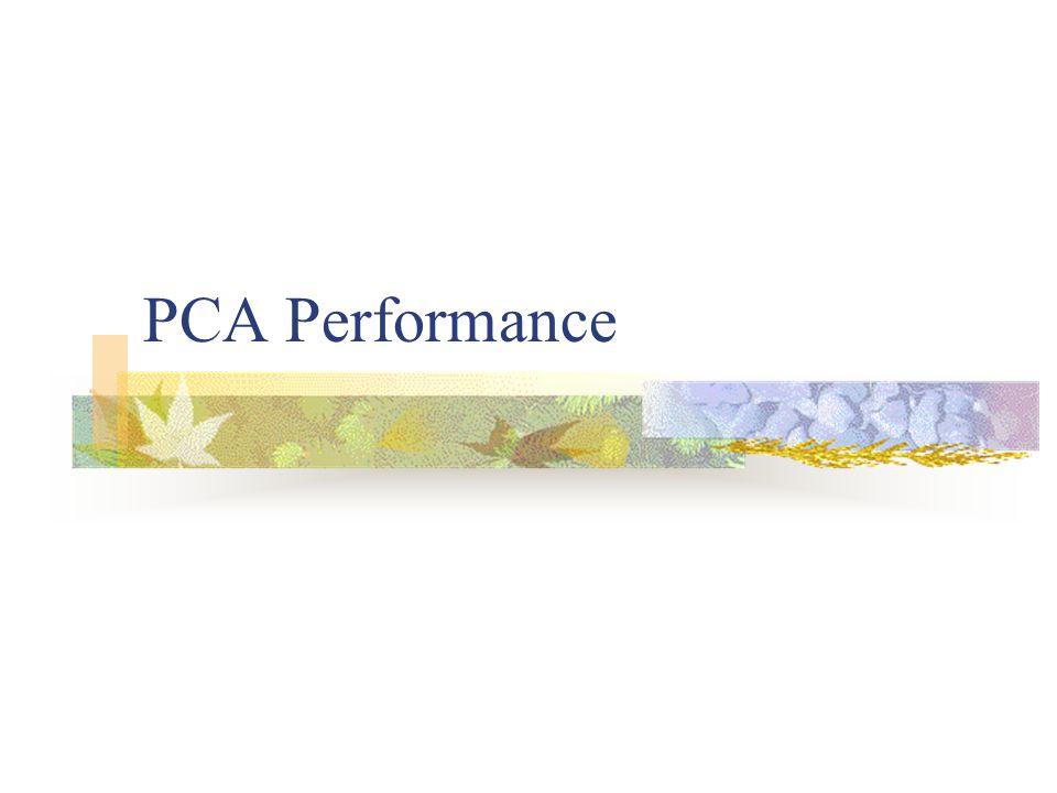 PCA Performance