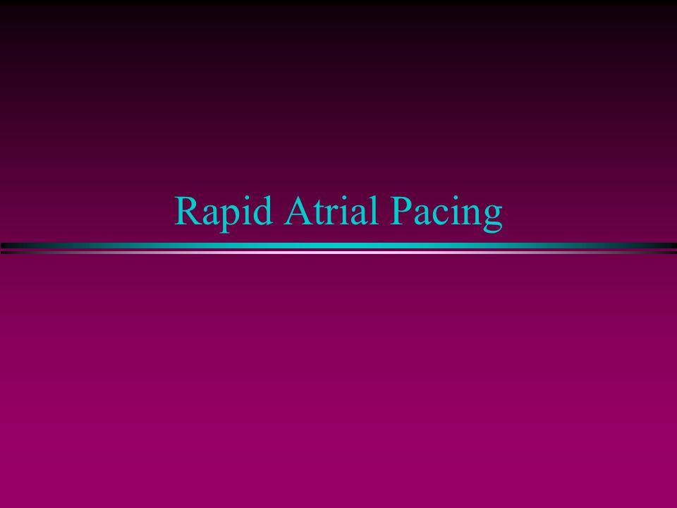 Rapid Atrial Pacing