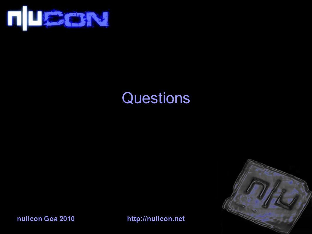 nullcon Goa 2010http://nullcon.net Questions