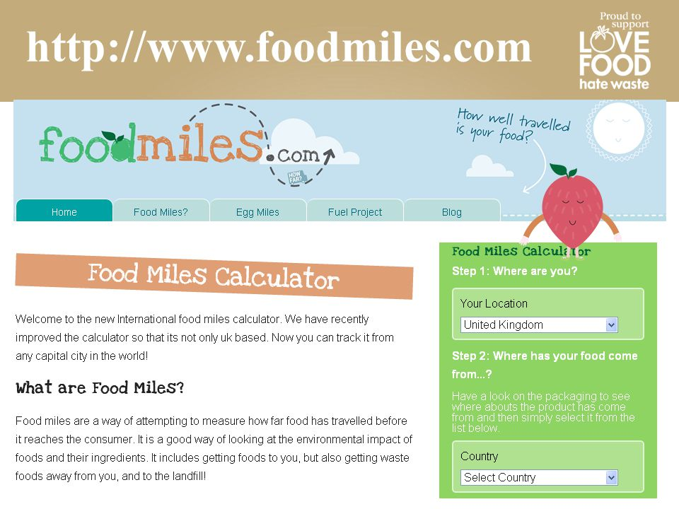 http://www.foodmiles.com