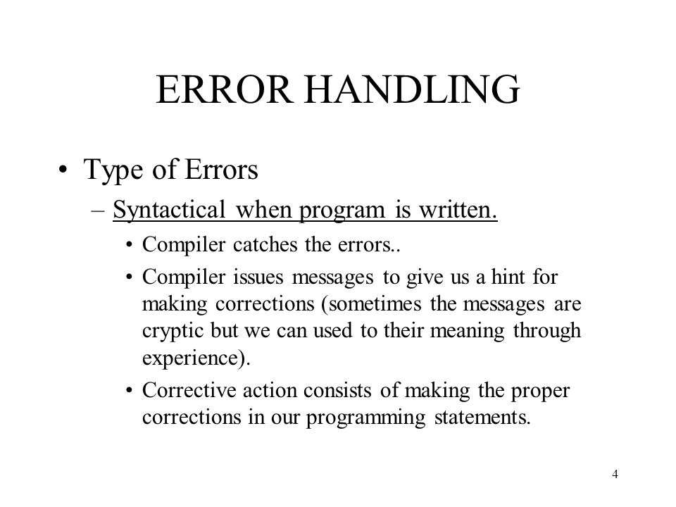 Checked and Unchecked Exceptions Java distinguishes between two types of exceptions: –Unchecked exceptions are those that are subclasses of Error or RuntimeException.