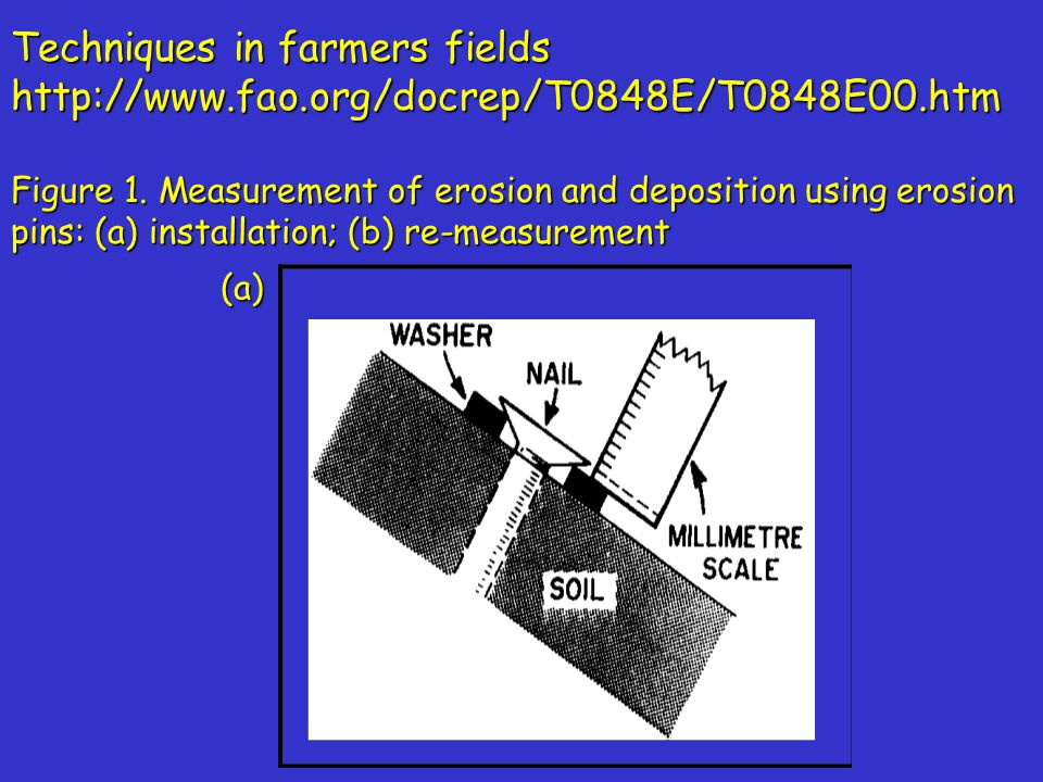 Techniques in farmers fields http://www.fao.org/docrep/T0848E/T0848E00.htm Figure 1.
