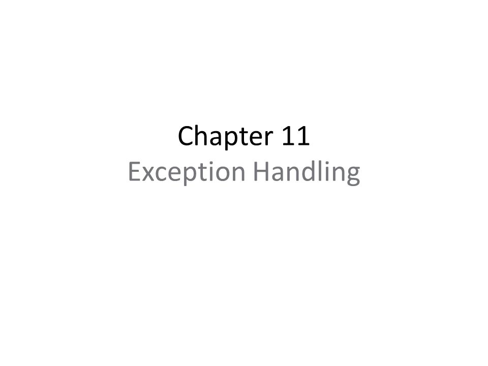C++-Style Solution—the try/throw/catch Construct Exception handling provides a way to transfer control from the library to the application.
