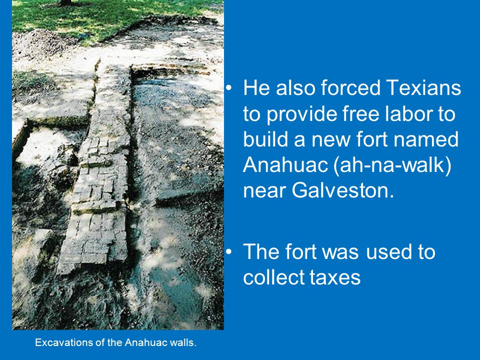 Excavations of the Anahuac walls.