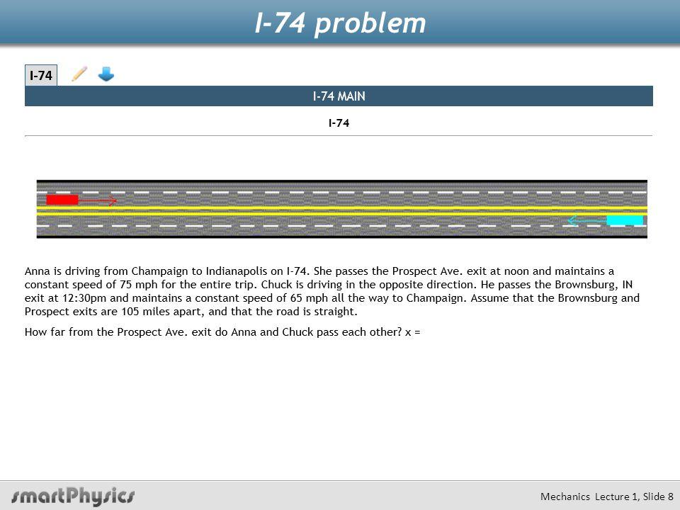 I-74 problem Mechanics Lecture 1, Slide 8