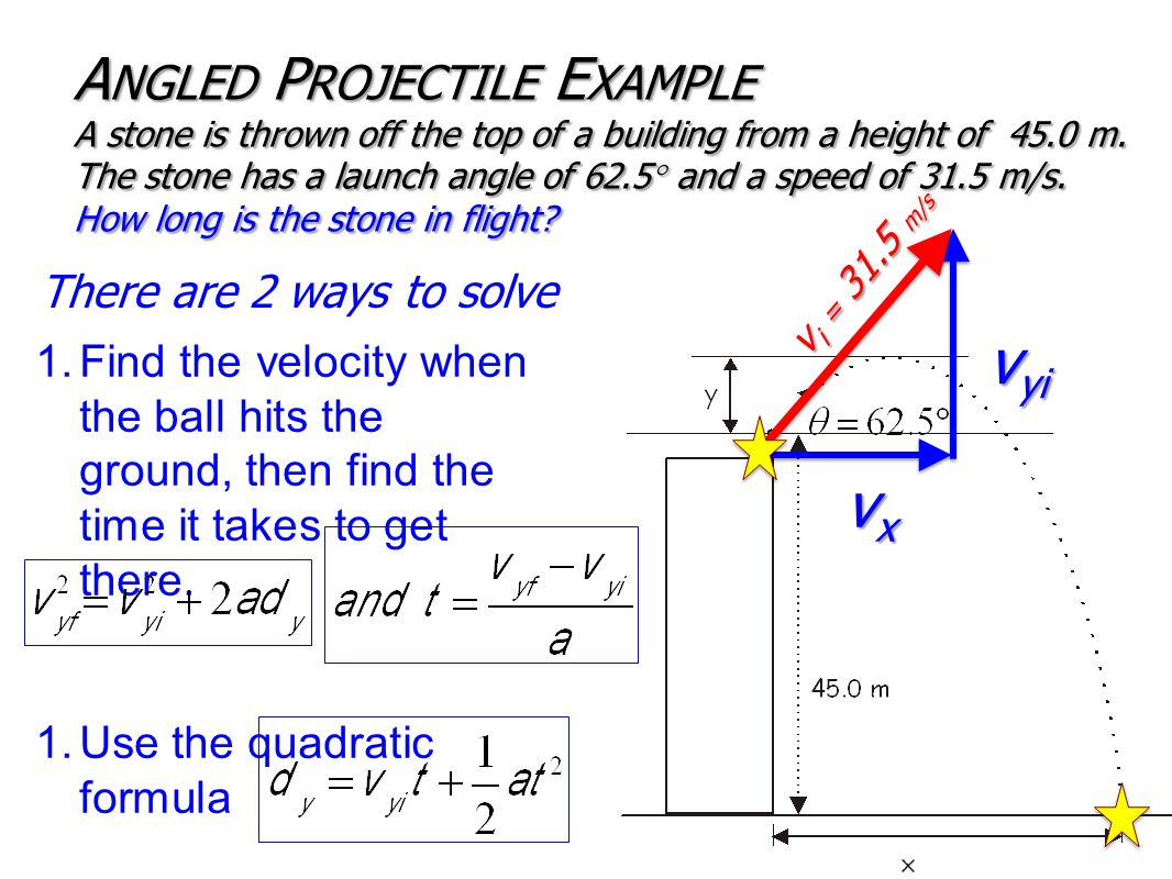 1.Find the velocity when the ball hits the ground, then find the time it takes to get there.