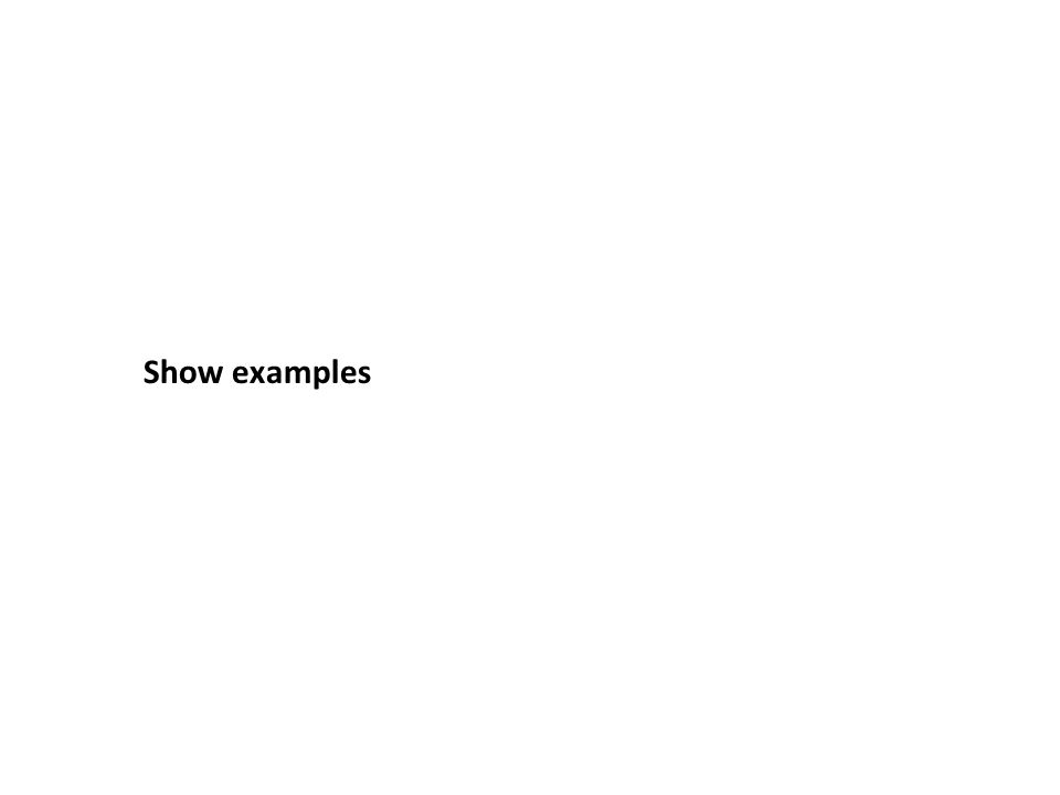 Show examples