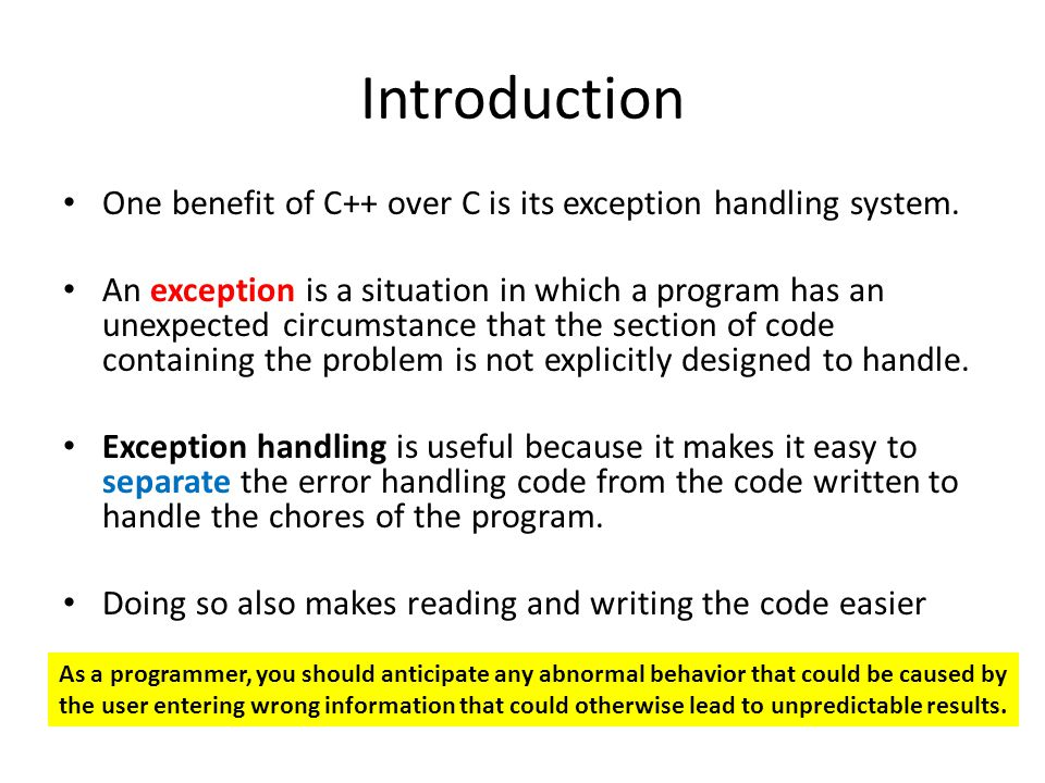 Show the example of throwing exception inside a function