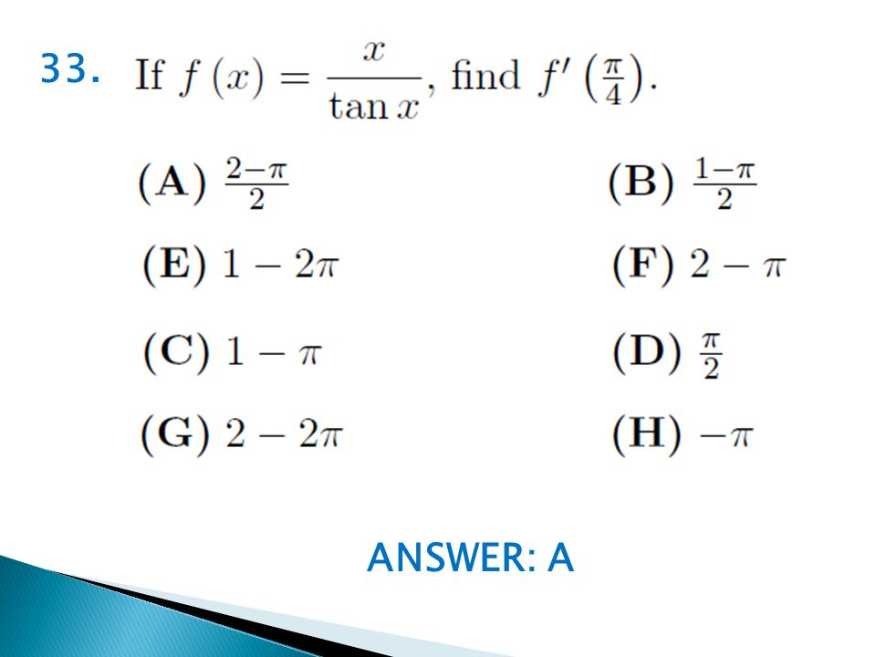 ANSWER: A 33.