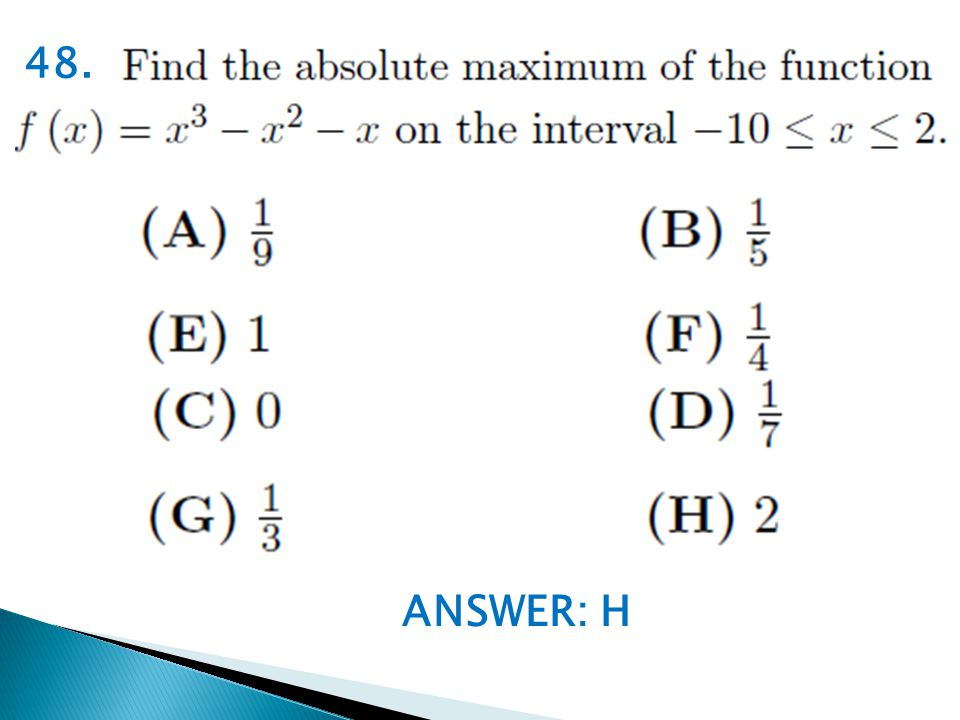 ANSWER: H 48.