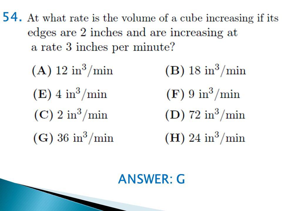 ANSWER: G 54.