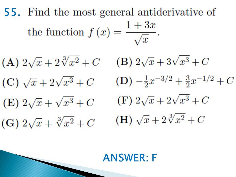 ANSWER: F 55.