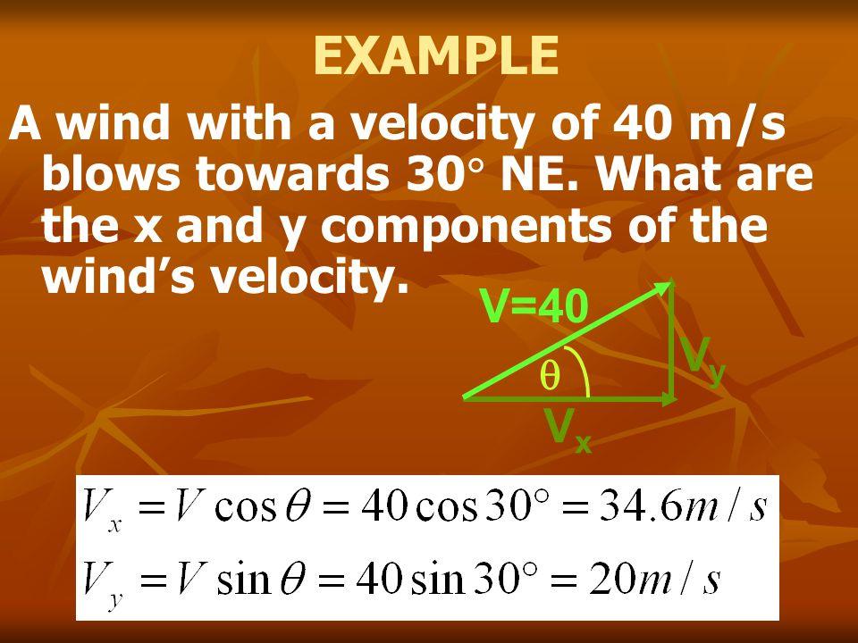 X-component V iX =4.47 cos 66 0 = 1.8 m/s a X = 0 m/s 2 V fX =1.8 m/s Y- component V iY =4.47 sin 66 0 =4.1 m/s a Y =-9.8 m/s 2 66 0 4.47 m/s B A C