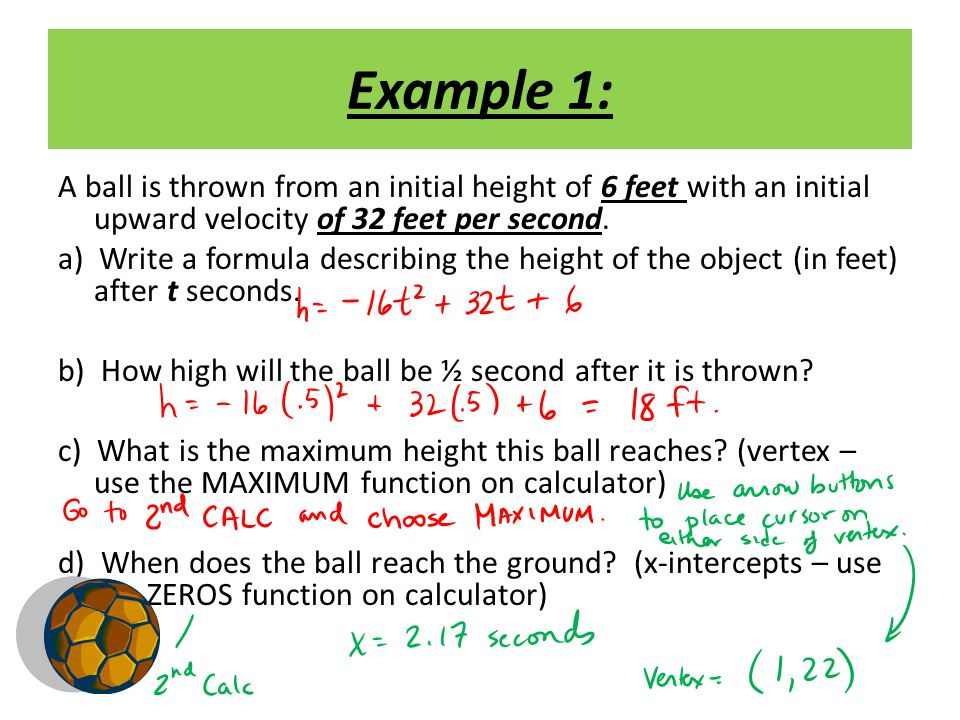Example 2: An object is dropped from an initial height of 90 meters.