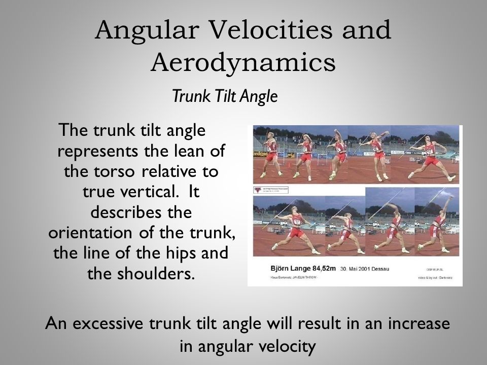 The trunk tilt angle represents the lean of the torso relative to true vertical. It describes the orientation of the trunk, the line of the hips and t