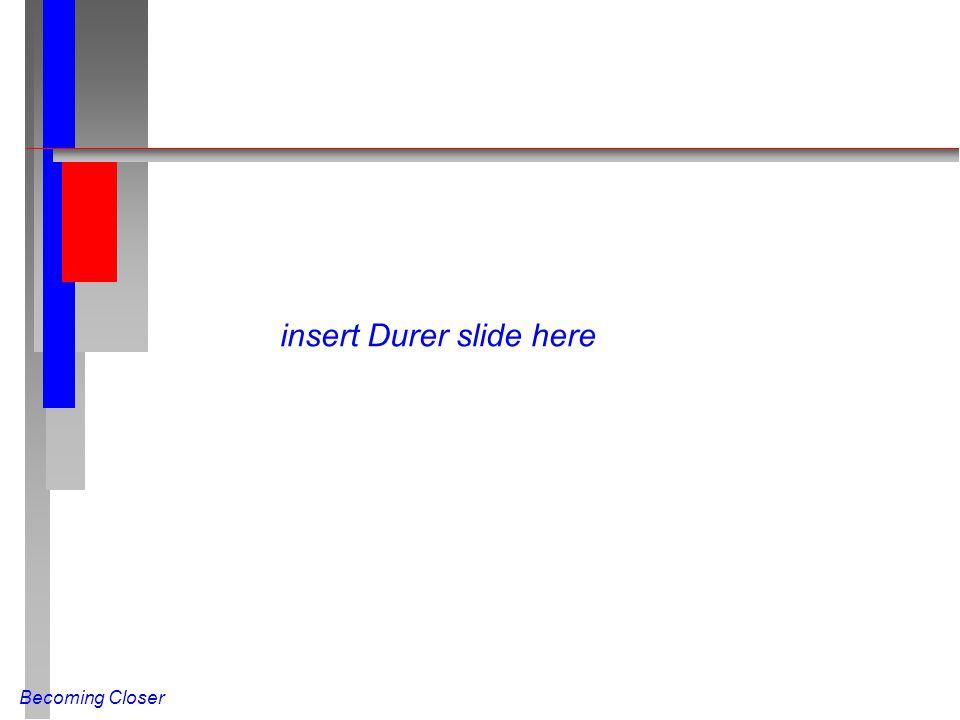 Becoming Closer insert Durer slide here