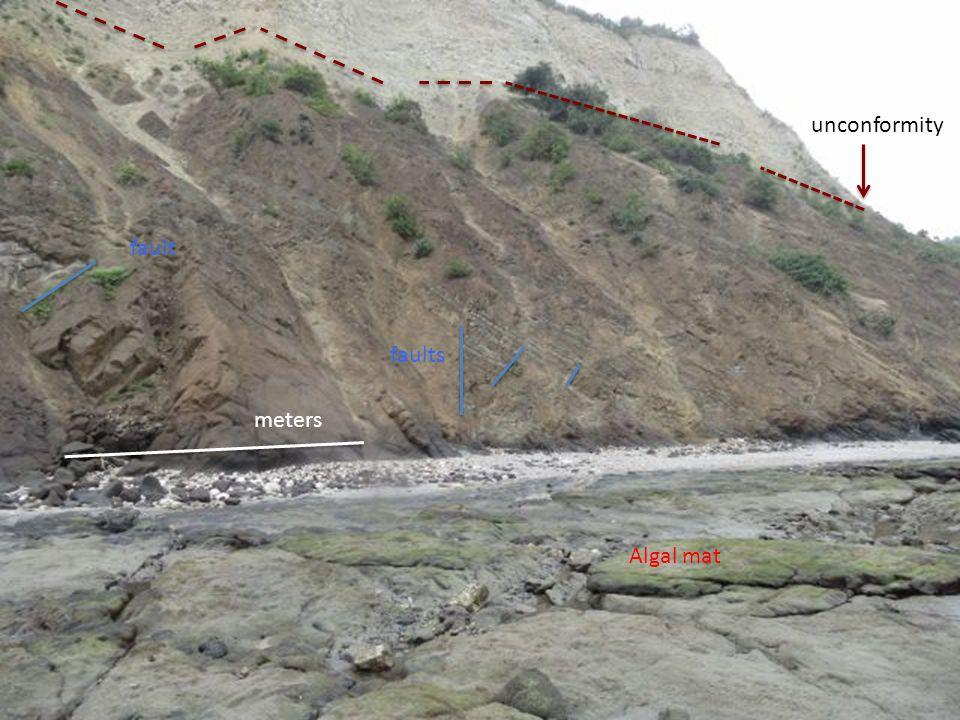 unconformity faults fault Algal mat meters