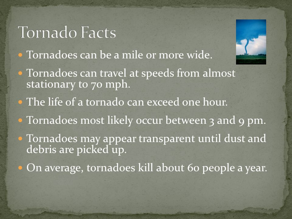 A tornado is a rotating column of air attached to a thunderstorm that comes in contact with the ground.