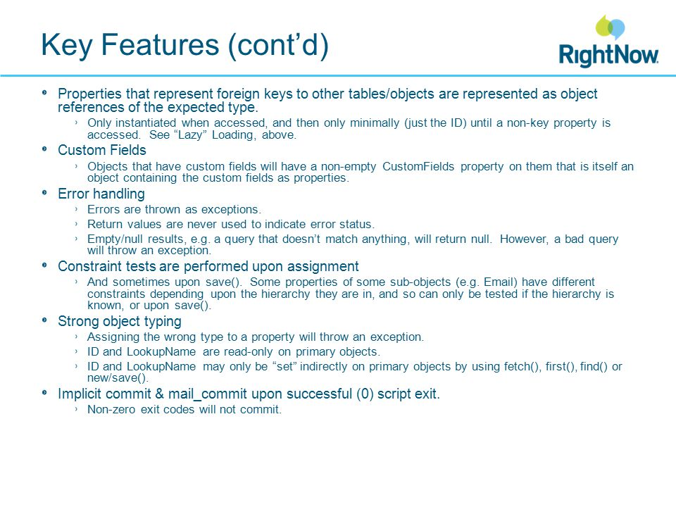 Using metadata (cont'd) Interesting metadata on a property (cont'd): description default The default value, if any.