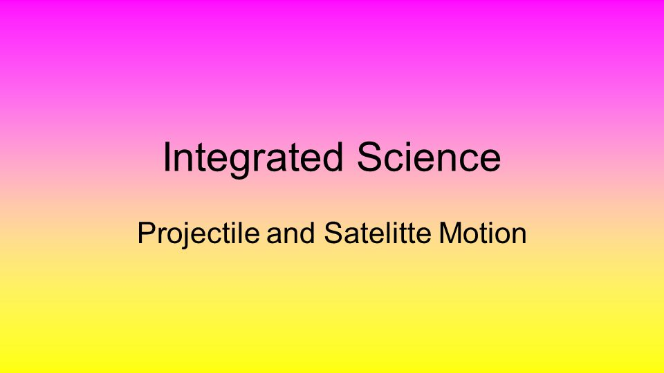 Projectile Motion Any object projected by any means that continues in motion is called a projectile.