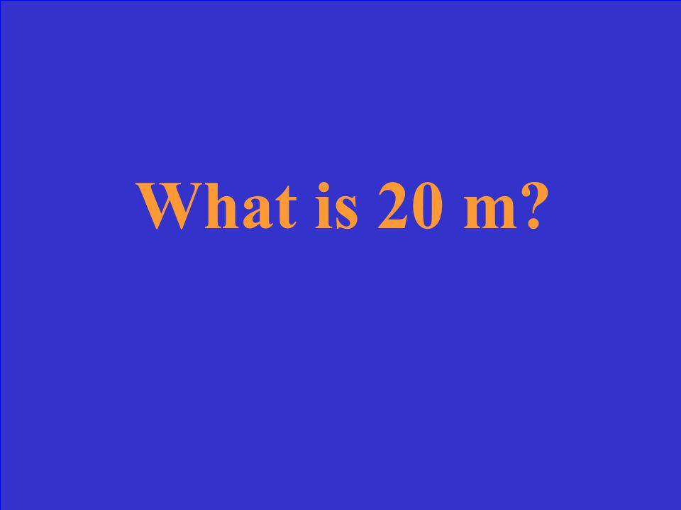 It's how far up a ball will rise when thrown straight up with a speed of 20 m/s. g = 10 m/s 2