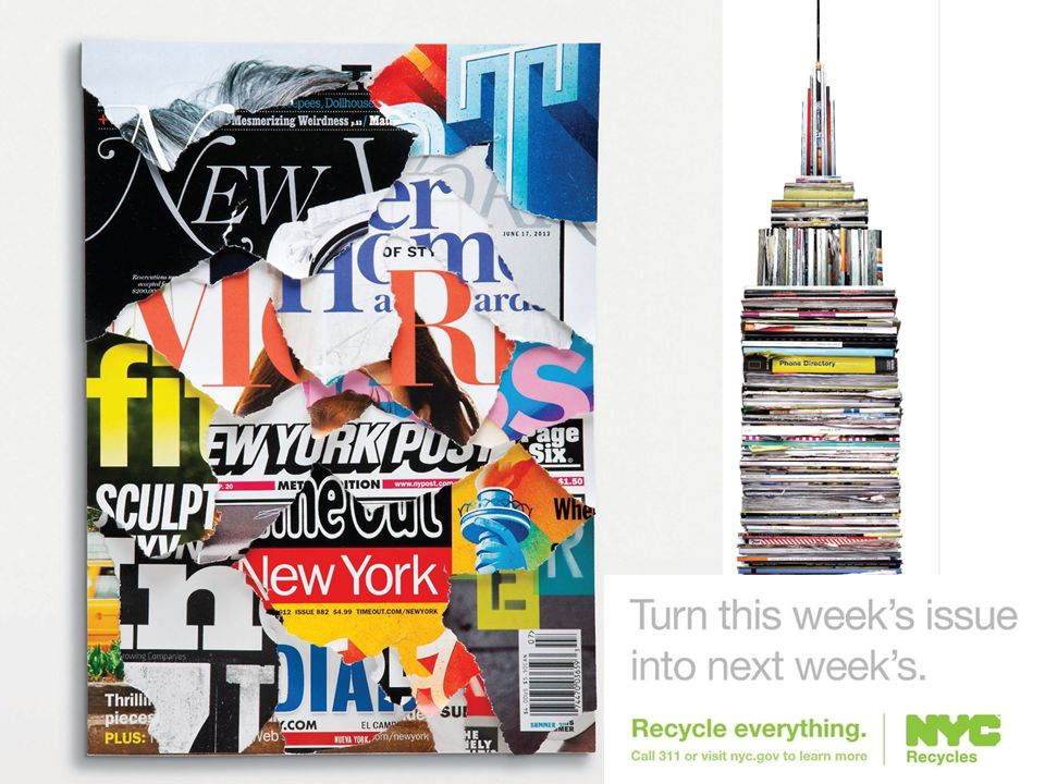 The PAPER trail Every year, New Yorkers throw away over 400,000 tons of recyclable paper.