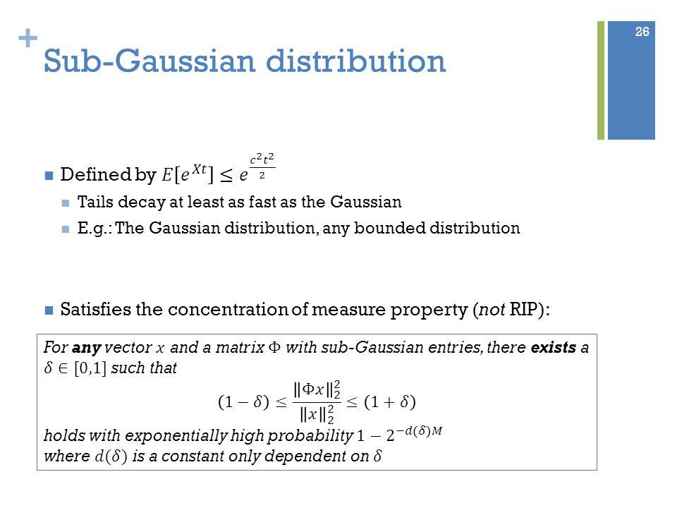 + Sub-Gaussian distribution 26
