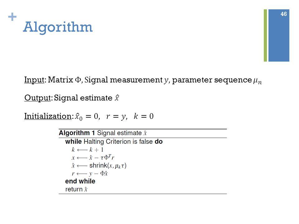 + Algorithm 46