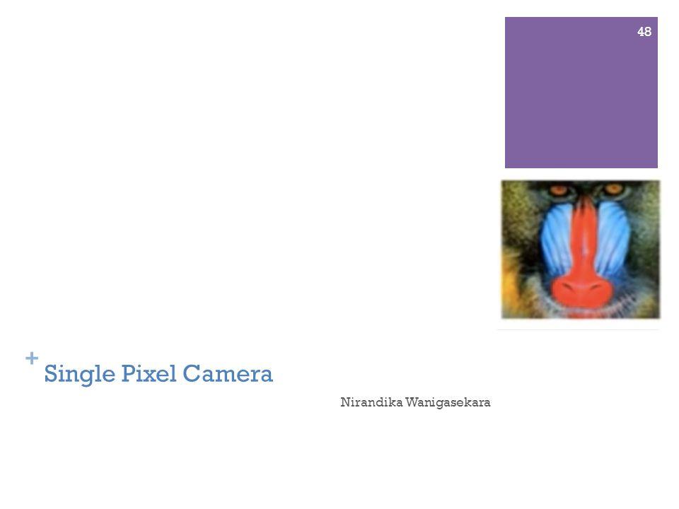 + Single Pixel Camera Nirandika Wanigasekara 48