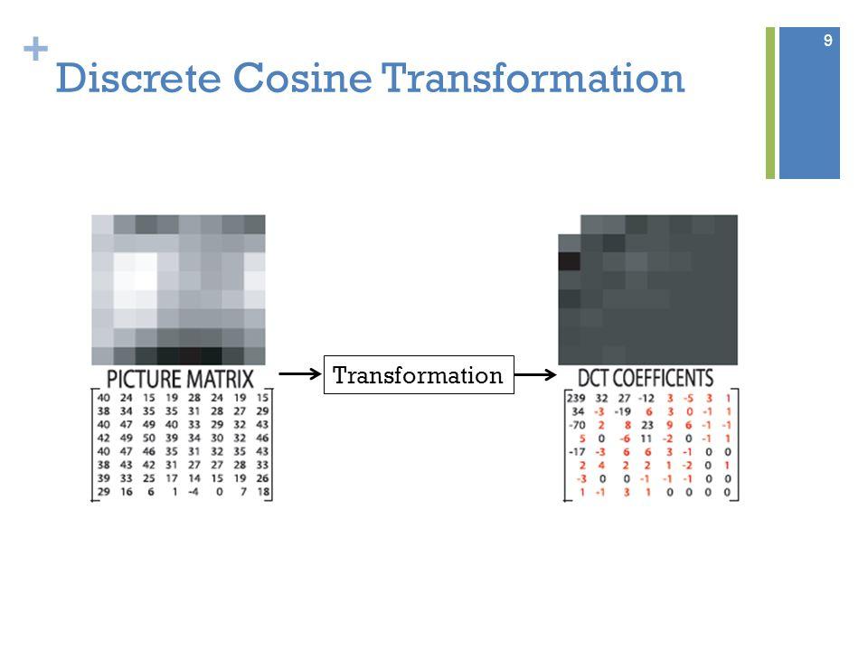 + Discrete Cosine Transformation Transformation 9