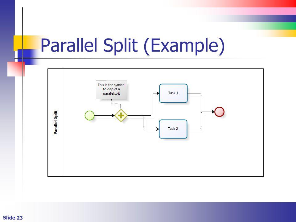 Slide 23 Parallel Split (Example)
