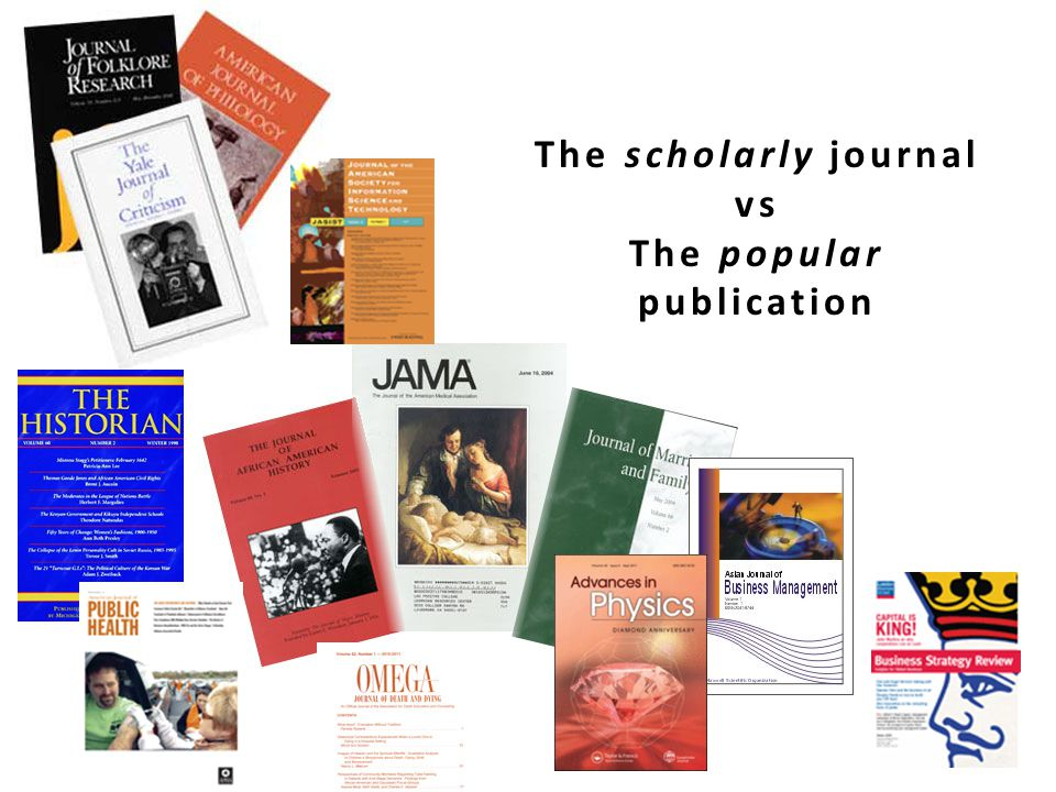 The scholarly journal vs The popular publication