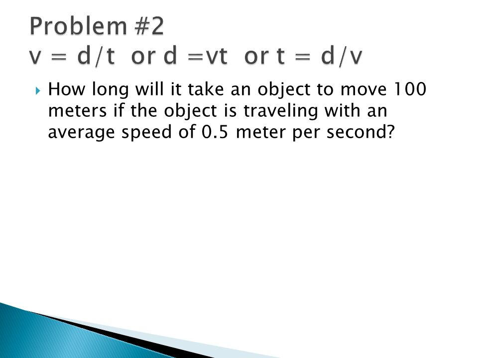  A car slows down from 40 m/s to a stop in a distance of 100 m.