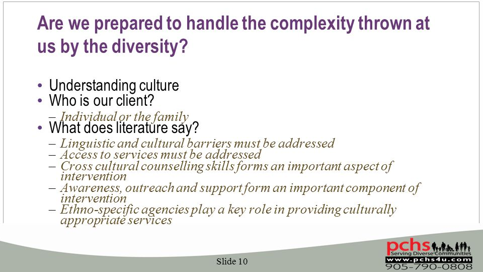 Are we prepared to handle the complexity thrown at us by the diversity.