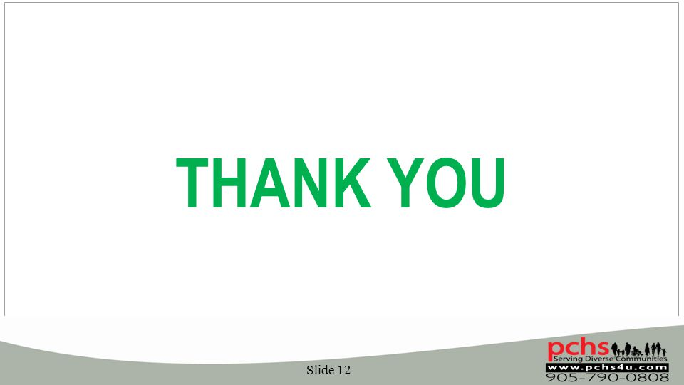 Slide 12 THANK YOU