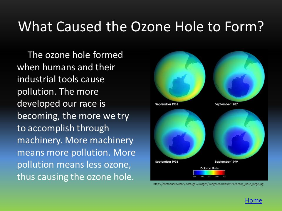What Caused the Ozone Hole to Form.