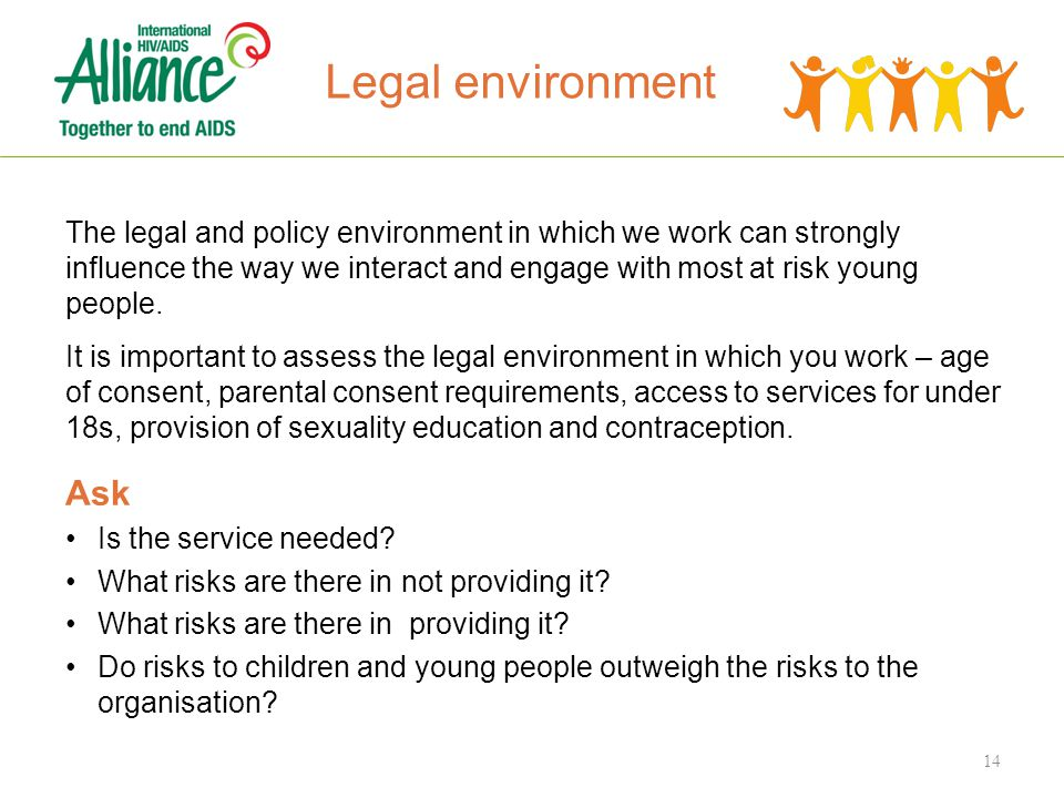 The legal and policy environment in which we work can strongly influence the way we interact and engage with most at risk young people.