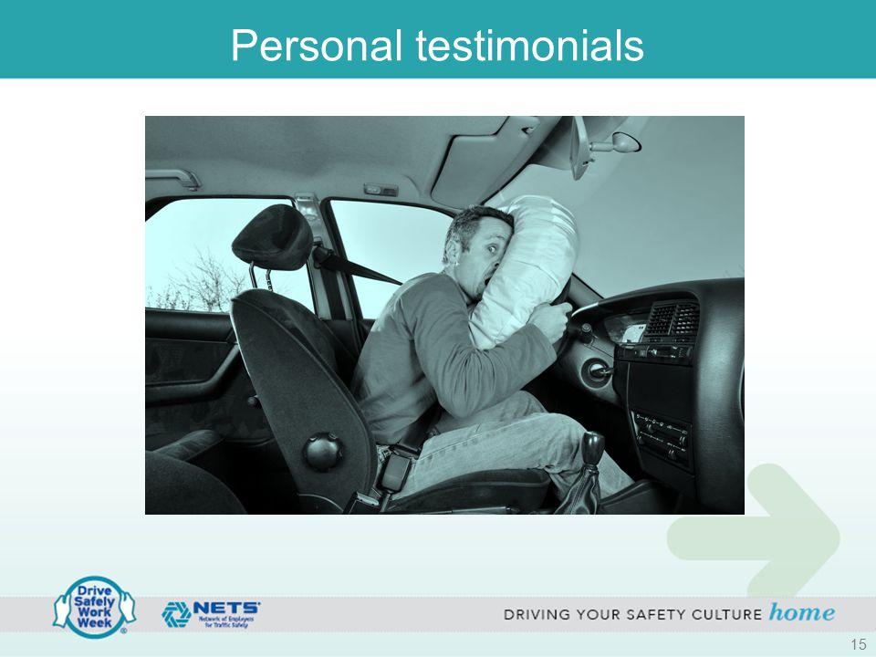 Personal testimonials 15