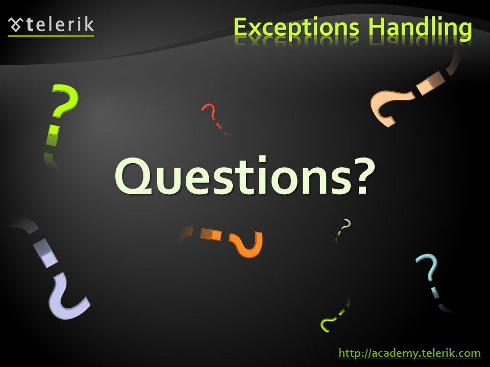 Questions http://academy.telerik.com