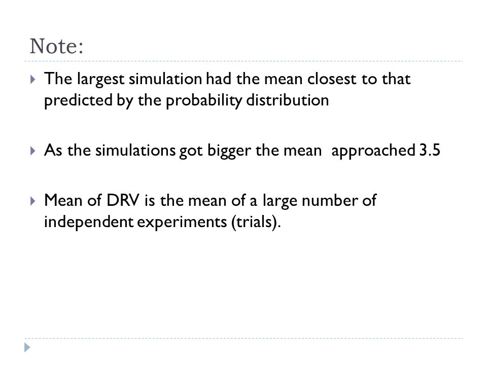 Standard Deviation of a DRV