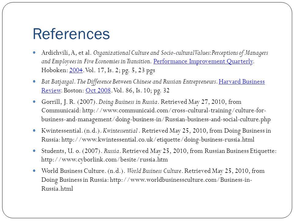 References Ardichvili, A, et al.