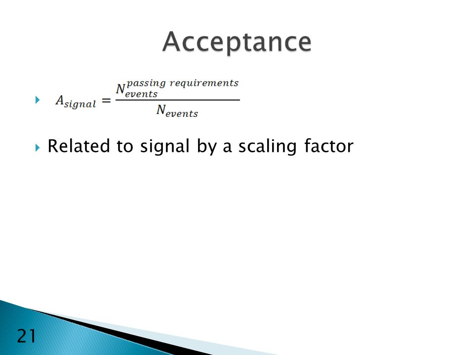   Related to signal by a scaling factor 21