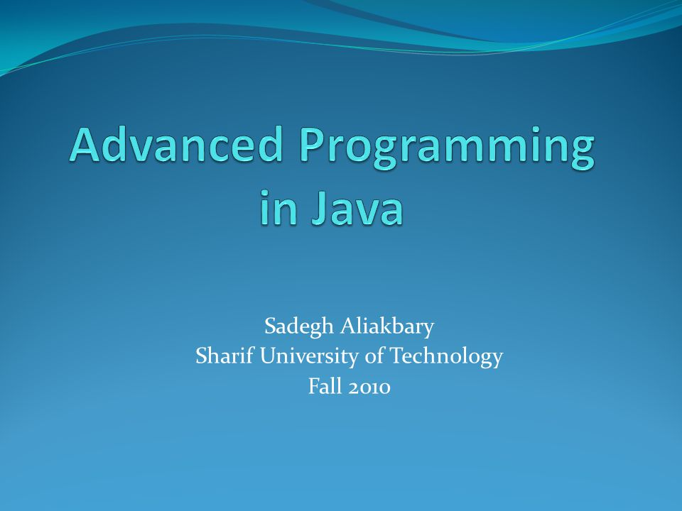 Exception Class Hierarchy Fall 2010Sharif University of Technology22