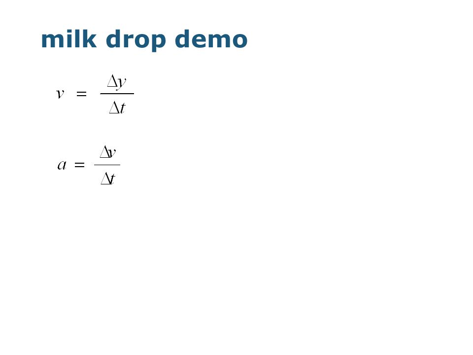 milk drop demo