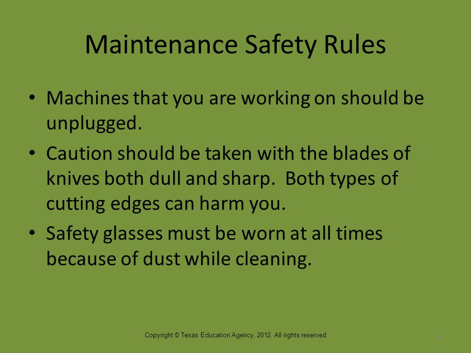 Improper Maintenance Improper or no maintenance will shorten the life of the equipment.