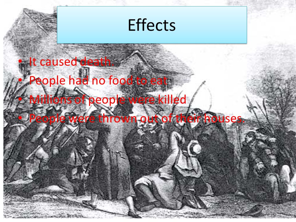 Effects It caused death.